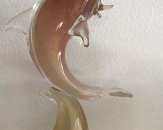 Vintage Murano porpoise-with gold flecks