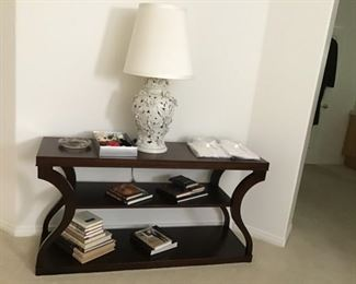 Ethan Allen 3 level shelf.  Used for entry, sofa table,or base for flat screen tv.