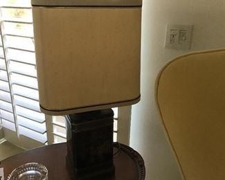 Chinese vintage tin lamp