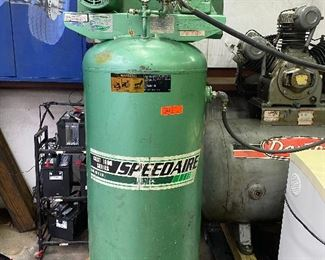 Speedaire 1 Phase Electrical Vertical Tank  5 Hp Air Compressor - Model 5Z185B