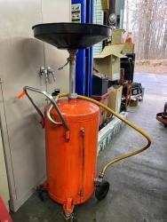 Metal Oil Drain Bucket on Castors