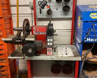 AccuTurn Brake Lathe - Model 770 w/ Stand and Assorted Adapters