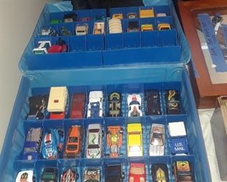 Toy cars, many makers