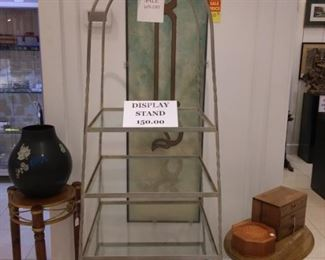 We have 4 Metal Displays with Glass