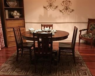Kitchen table and chairs are sold.  Hutch desk and antique chair are still available