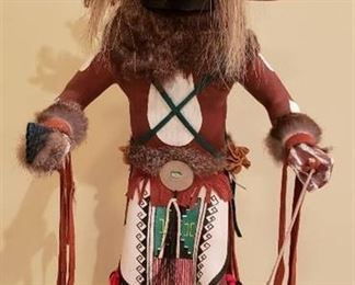 Native American Chaveyo Ogre Kachina Doll by Robert Begay - 2 ft. tall