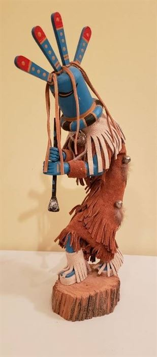 Native American Kokodelli Kachina Doll by JCHAPO - 13 1/2 in. tall