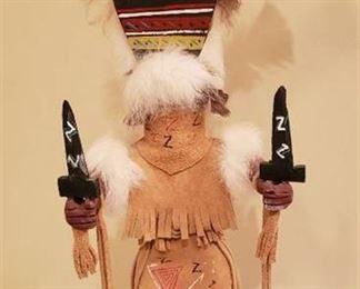 Native American Apache Kachina Doll by Lorenda Hudson - Navajo - 16 in. tall