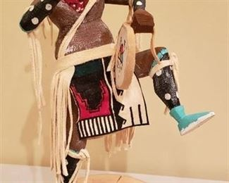 Native American Mud Head Kachina Doll by GT - 12 in. tall