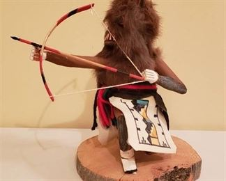 Native American Wolf Kachina Doll by B.B. Platero - 9 1/2 in. tall
