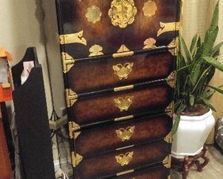 Tall dresser Chinese bedroom set