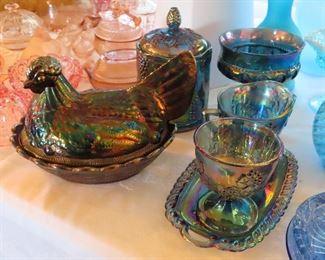 Vintage Fenton Carnival glass