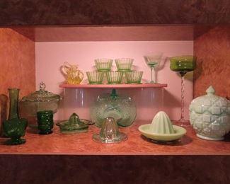 Nice Uranium glass items