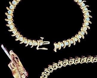 14 karat gold diamond bracelet