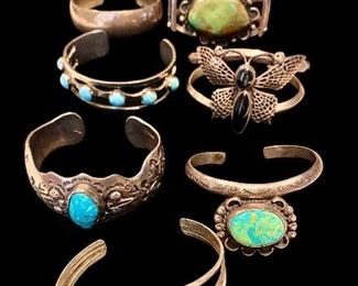 Sterling silver jewelry, Sterling silver Native American jewelry bangles .925