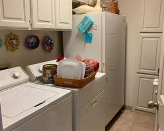Washer, dryer, freezer (there's also a refrigerator)