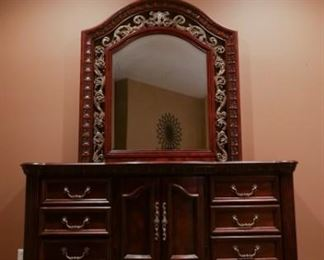 Dresser and mirror included in bedroom set