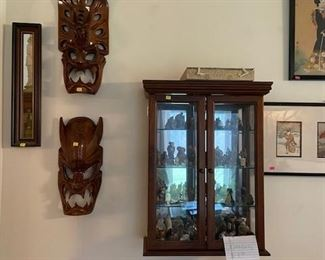 Oriental smalls, masks, pictures, mirrors.