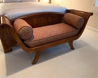 Hendredon bench and custom pillows