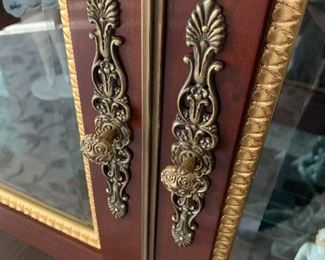 Detail of curio cabinet