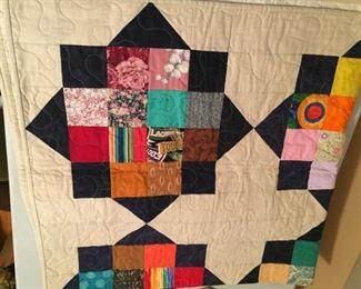 Very nice handmade quilt.