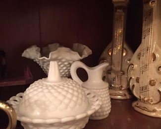 Milk glass - One Fenton for sure