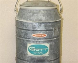 143 Vintage Galvanized Steel Water Cooler