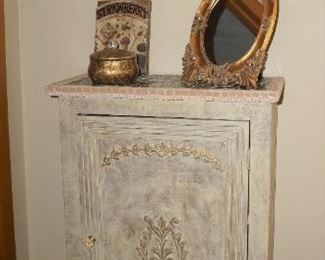 And sweet little painted cabinet.  Leave as is or change up the color
