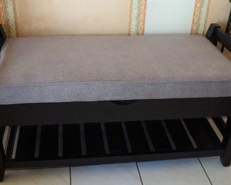 Cute bench for entryway or at the end of a bed