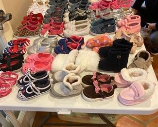 TONS of Girls shoes - Newborn to size 7