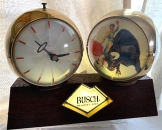 Bush light up clock; it works! Pictures rotate.