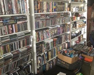 Dvd's VHS's and Cassettes!
