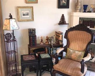 ornate parlour chair