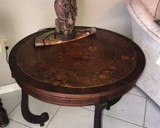 round inlay table