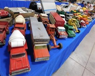 Vintage Pressed Steel toy trucks