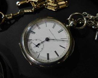 Elgin Pocket Watch Silver case