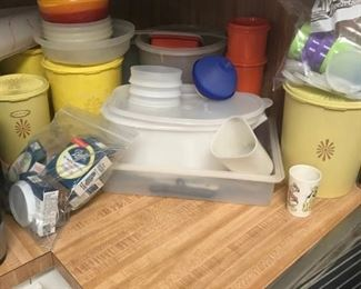 some of the vintage Tupperware items