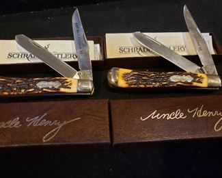 Schade Uncle Henry 285-UH knives. Beef Belt Feeders promo knives