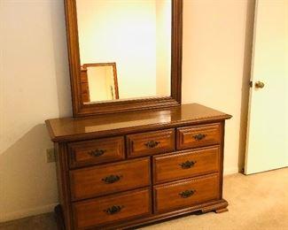 Maple dresser with mirror