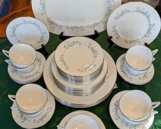 "44-piece set of Minton ""Pandora"" china."