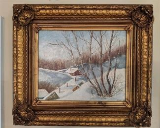 Nicely framed oil on canvas, by Duval, 1961.
