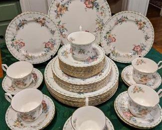 "38-piece set of Royal Albert ""Constance"" china."