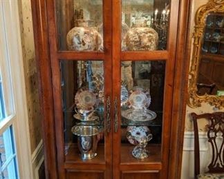 The other of the pair of Century china cabinets - treasures a-go-go inside!