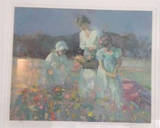 """Signed/Numbered 240/300 serigraph, by Don Hatfield, """"Poppy Field""""."""