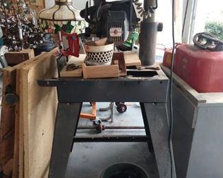 "Sears Craftsman 10"" radial saw."