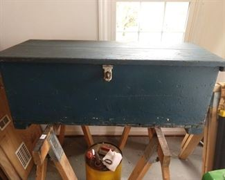 Magician's wooden trunk - don't ask what's in it...