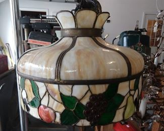 Vintage stained glass chandelier.