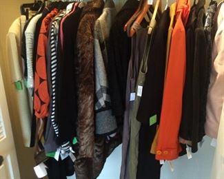 Closet full of vintage clothing and a couple pair of Ferragamo pumps - work it guuuuuurll!