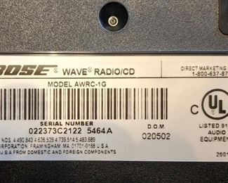 Bose wave radio CD player with remote Model awry-1g     $185.00