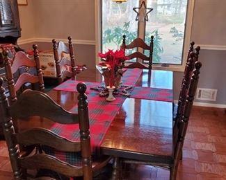 hardwood dining room set